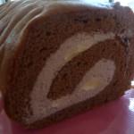 富山市ウキパパ!米粉ロールケーキはしっかり生地なのだ!
