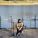富山の歌姫MANOちゃん発見!環水公園水辺のコンサート!