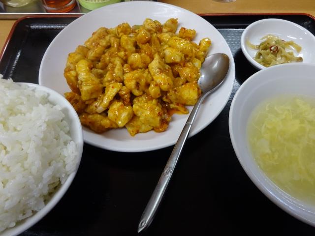 鶏肉の辛し炒め定食