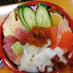 富山市 奥田 蛇の目寿司の海鮮ちらし ご飯大盛り食べてきた!