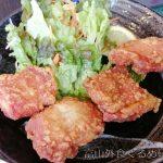 はなまるうどん 富山天正寺店の鶏千のからあげ定食!常時100円引きじゃないと厳しかな?